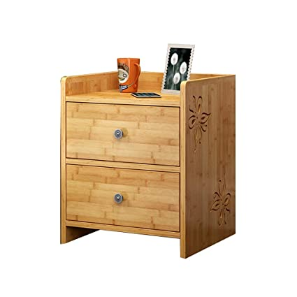 Amazon.com: Dressers Bamboo Storage Cabinet Simple Bedside Cabinet ...