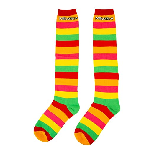 Amazoncom Mike And Ike Colorful Striped Knee High Socks Clothing