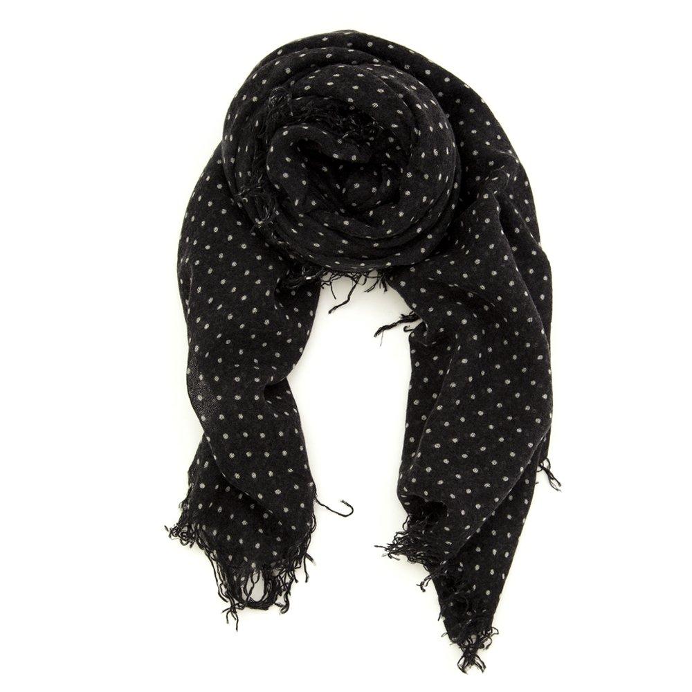 Chan Luu Women's Combo Cashmere Polka Dot Silk Scarf 62'' x 58'' in Black
