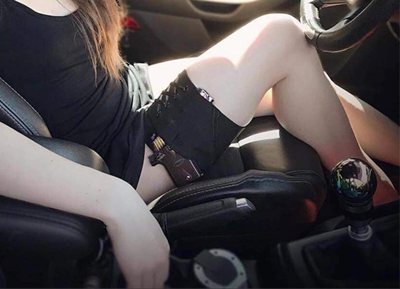 Amazon.com : LIVIQILY Holster Black Thigh Holsters Woman Sexy Tactical Gun  Garter Holster for Taurus PT-22 .22 Caliber TCP .380 Revolver Bag : Sports  & ...