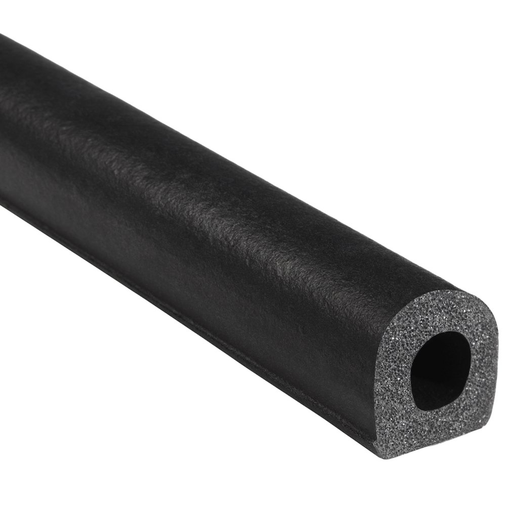 """Trim-Lok D-Shaped Rubber Seal (Thick Wall) – .75"""" Height, .75"""" Width, 25' Length – EPDM Foam Seal with HT (General Acrylic) Pressure Sensitive Adhesive System, Door/Window Weather Seal for Cars, Trucks, RVs, Boats"""