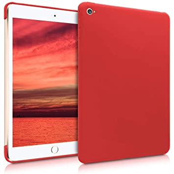 kwmobile Funda Inteligente para Apple iPad Mini 4 - Carcasa Trasera de [Silicona] para Tab - Case [Rojo]