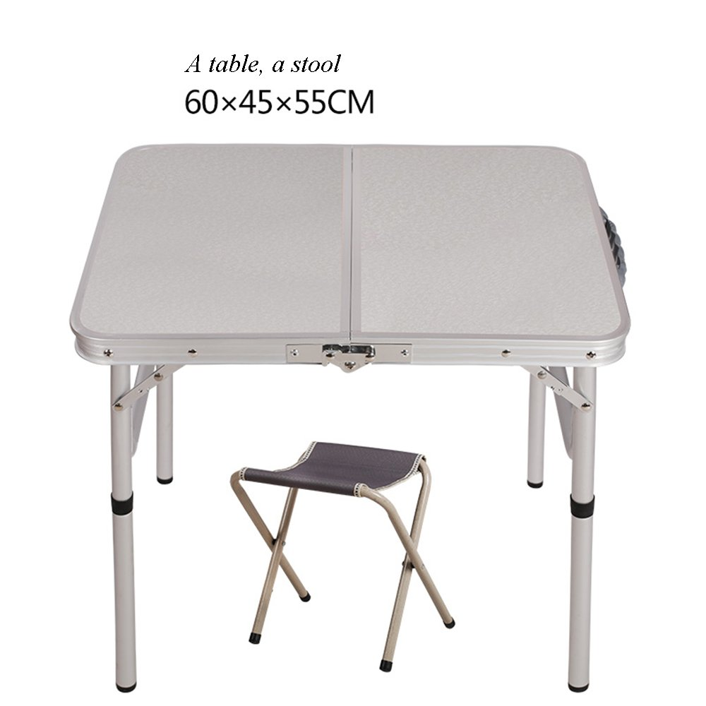 Tables YNN Bedside Barbecue Small Folding Outdoor Campsite 604558.5cm Portable Aluminum Alloy Exhibition Picnic Study Simple Stall (Color : B)