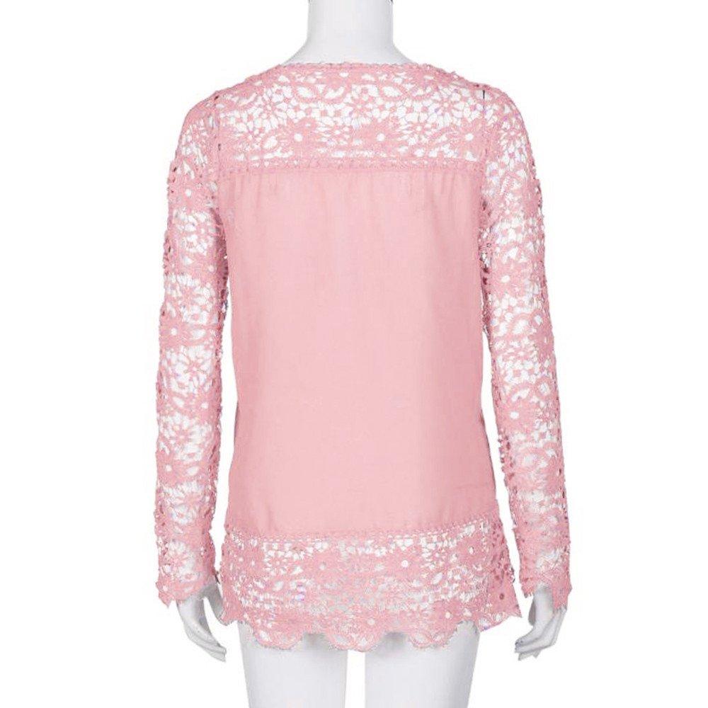 YOUBan Mujer Camisa de Manga Larga Tops Casual Blusa de Encaje Blusa de algodón Suelta Chica Linda Loose Precio Grande Madura Elegante Simple: Amazon.es: ...