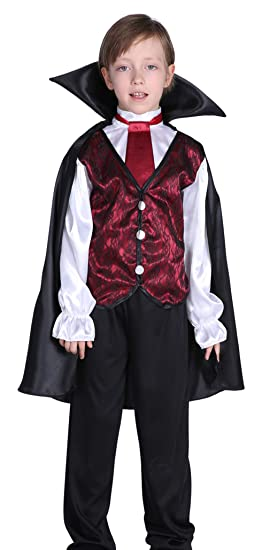 Halloween Vampire Costume Kids.Amazon Com La Vogue Boys Kids Halloween Vampire Costume Earl Role