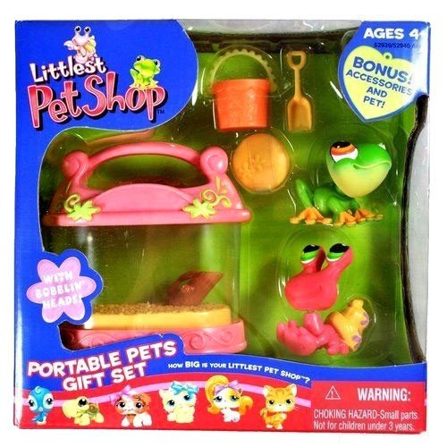 Littlest Pet Shop Hermit Crab - Littlest Pet Shop Exclusive Portable Pets Gift Set with Tree Frog & Hermit Crab
