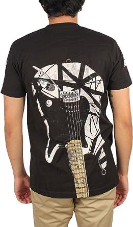 Van Halen – -Guitarra – Camiseta de Rayas Blancas de Men In Black ...