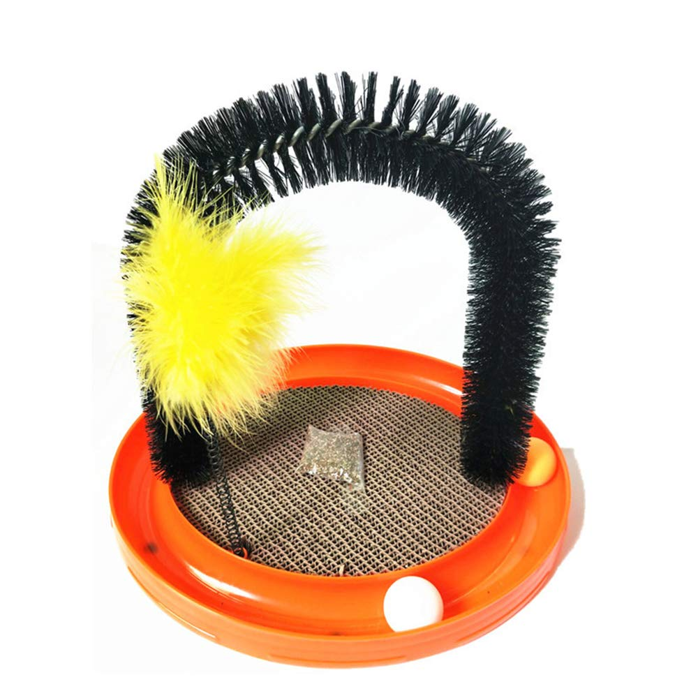 Cat Toys, Cat Scratch Board, Cat Stick, Play Ball, Cat Arch, Multifunctional Four-in-one Cat Toy, with Ball, Cat Wand, Catnip