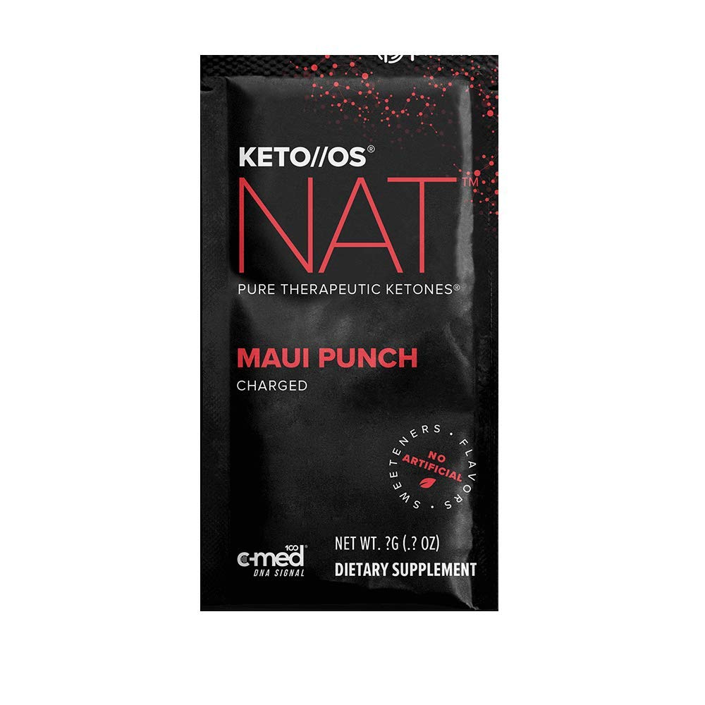 Pruvit Keto OS NAT CHARGED, BHB Salts Ketogenic Supplement – Beta Hydroxybutyrates Exogenous Ketones for Fat Loss, Workout Energy Boost Through Fast Ketosis. 20 Sachets Maui Punch