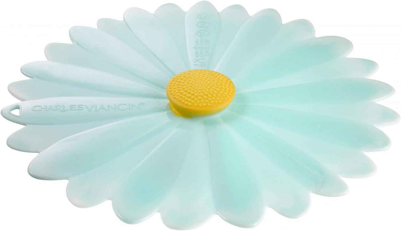 Charles Viancin Daisy Lid Large Aqua 11 inch Silicone Multi-Purpose