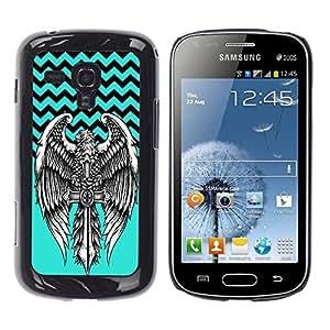 Dragon Case - FOR Samsung Galaxy S Duos S7562 - No cross no crown - Caja protectora de pl??stico duro de la cubierta Dise?¡Ào Slim Fit