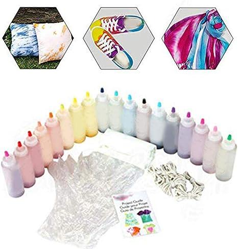 ckground Kits De 18 Colores Tie-Dye, Kits De Tinte Textil DIY ...