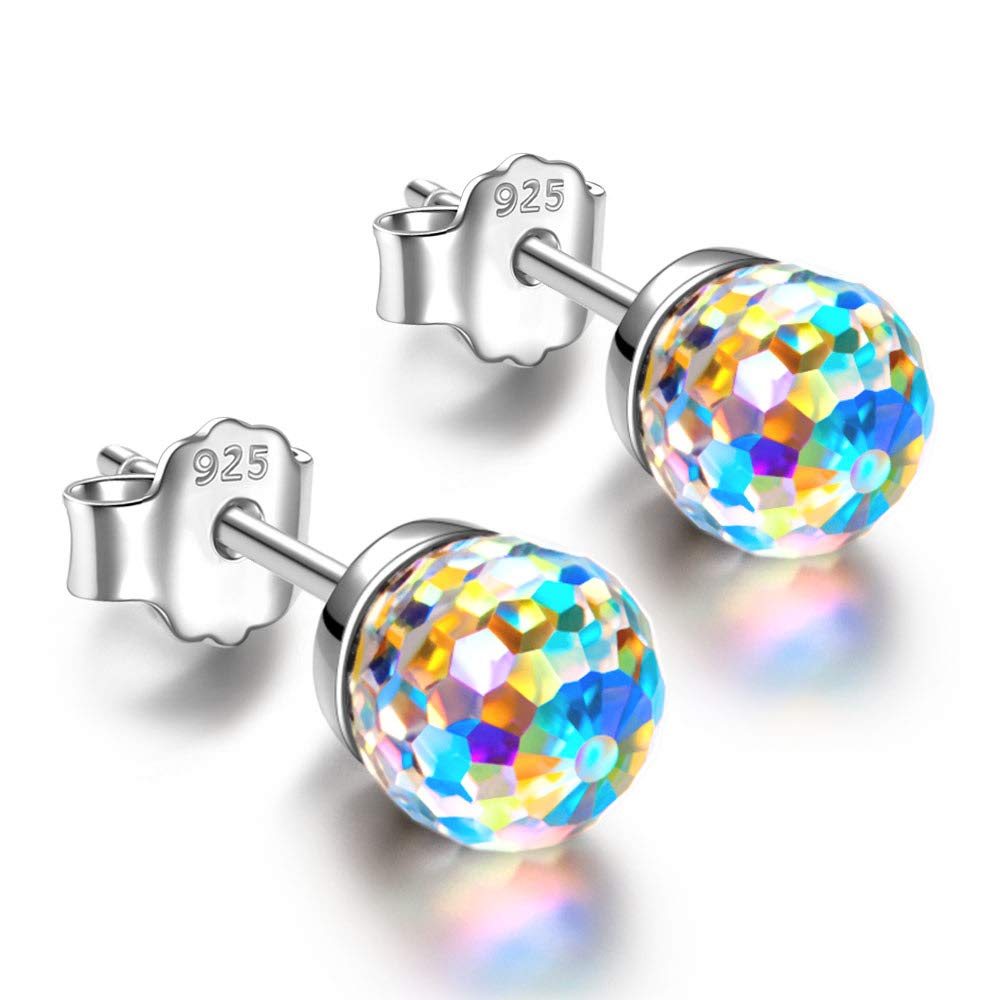 Earrings for women Gifts for mom Stud earrings for mom gifts for women christmas gift Swarovski crystal sterling silver earrings for women mom gifts Jewelry for Women Gifts for Mom Gifts for Grandma by NINASUN