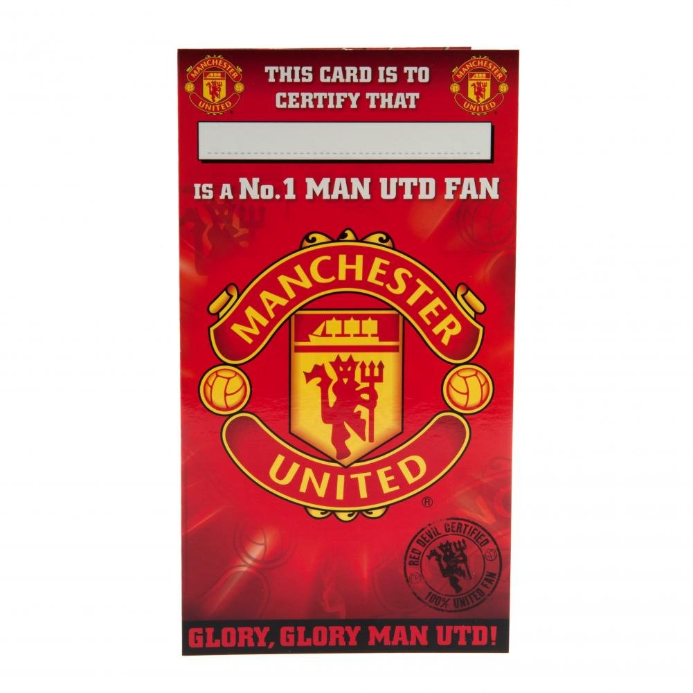 Official Football Team Gift Manchester United FC Birthday Card – Football Team Birthday Cards