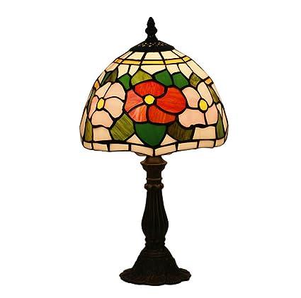 Amazon.com: Lámparas de mesa de cristal de estilo europeo ...