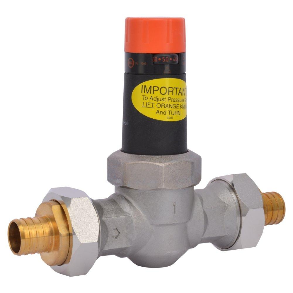 Cash Acme 23140-0045 Pressure Regulator, EB25-DUPE Double Union PEX Ends, 1''