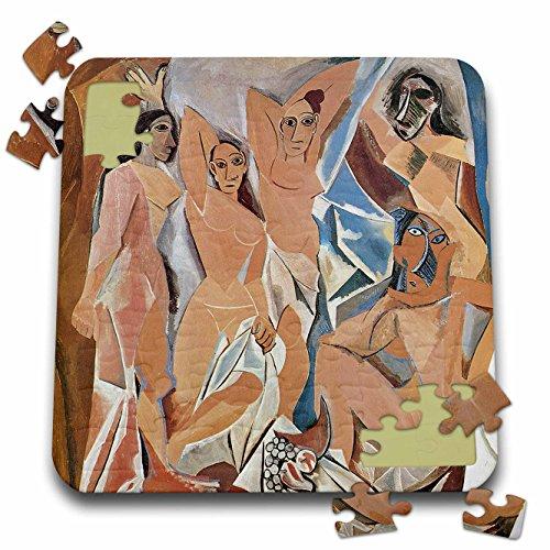 BLN Beautfiul Nudes Fine Art Collection - Les Demoiselles dAvigon by Pablo Picasso - 10x10 Inch Puzzle (pzl_128007_2)
