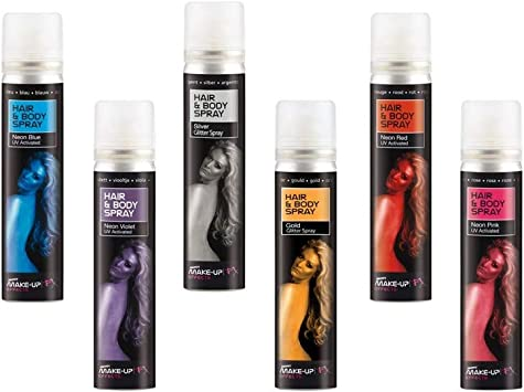 DISBACANAL Maquillaje en Spray para Cuerpo y Pelo - Azul, -