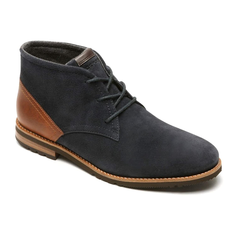 Rockport Men's Ledge Hill Too Chukka Boot New Dress Blues 12 W
