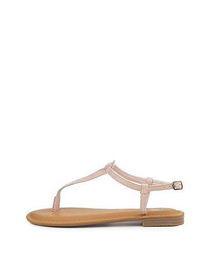 Fritzi aus Preußen Damen Marana Toe Strap Sandal Zehentrenner, Beige (Nude), 41 EU