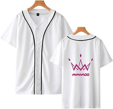 KPOP MAMAMOO Club Camiseta De Béisbol Hombre Y Mujer De Verano De Manga Corta Camiseta Casual De Harajuku Tops (4, XL): Amazon.es: Ropa y accesorios