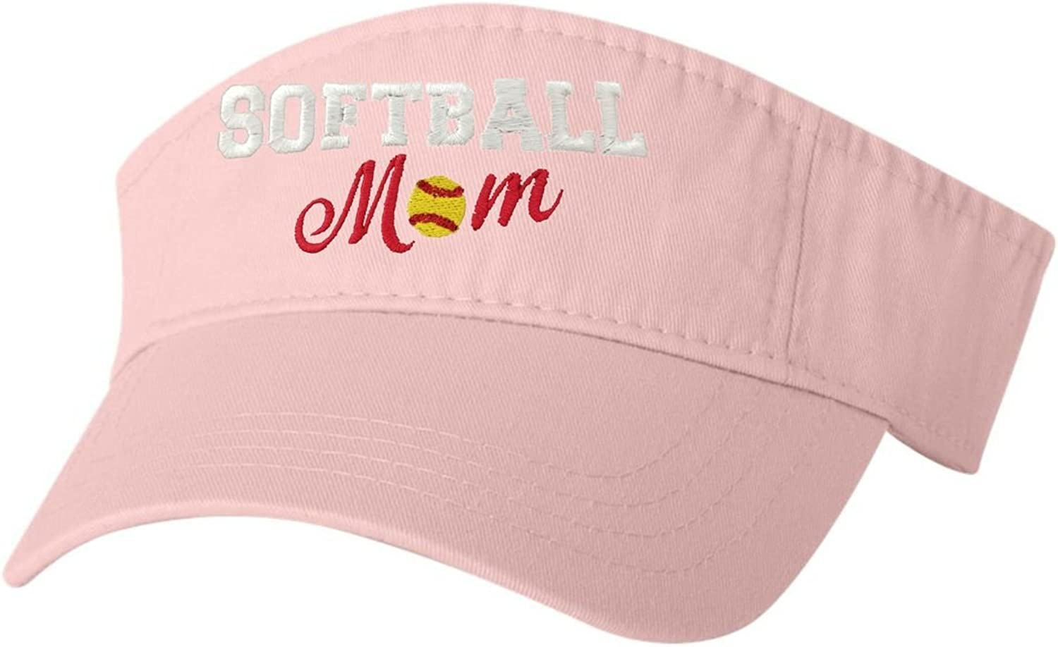 Go All Out Adult Softball Mom Embroidered Visor Dad Hat