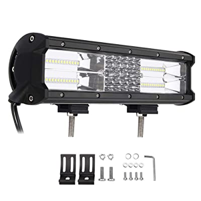 LED Work Light Bar 12 Inch 7D 180W Triple Row Spot Flood Combo Off Road Lights for 4WD Jeep 4x4 SUV ATV UTV Truck Car Pickup Boat Fog Lamp: Automotive