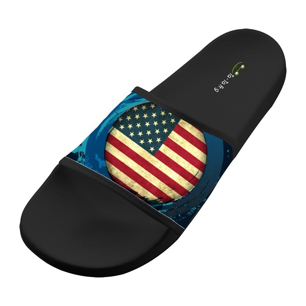 UIJ JJAA USA Flag Fashion Slide Sandals Indoor /& Outdoor Slippers