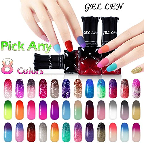 Gellen Pick Any 8 Colors Temperature Color Changing Gel Nail