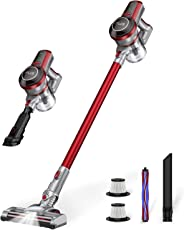 Hardwood Floor Vacuum Cleaner Cordless, Muzili Carpet Vacuum Sweeper Bagless, Stick Lightweight Portable Vacuum Cleaner for H