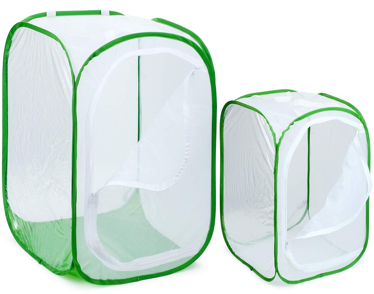 RESTCLOUD 2-Pack 24'' & 36'' Large Monarch Butterfly Habitat, Giant Collapsible Insect Mesh Cage Terrarium Pop-up