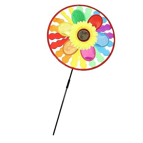 Evalue Rainbow Windmill Wind windsocks Whirligig Wheel Windsocks Home Yard Camping Decor Outdoor Toy