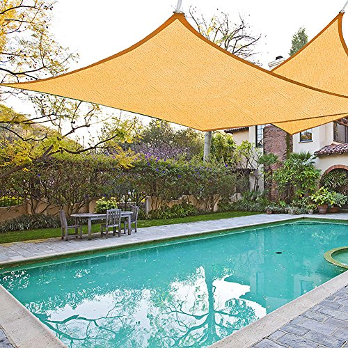 61CcI7dIfsL - Shade&Beyond 8'x10' Rectangle Sun Shade Sail Canopy for Patio with D rings - 3rd Generation