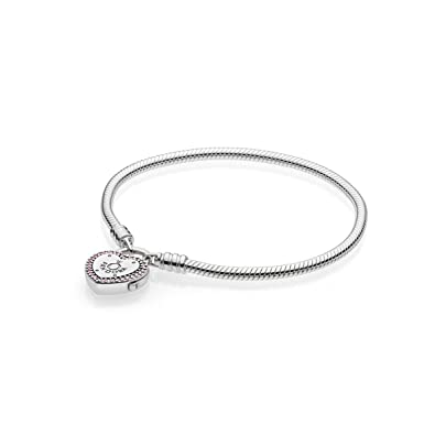 Pandora Women Silver Charm Bracelet - 596586fpc-18 kg6KVzM9mV
