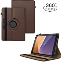 TGK 360 Degree Rotating Universal 3 Camera Hole Leather Stand Case Cover for iBall Slide Nova 4G Tablet (10.1 inch) (Brown)