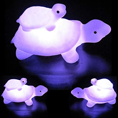 Yamalans Colorful LED Child Mother Tortoise Flashing Night Light Kids Room Living Room Kids Room College Dorm Coffee Table Bookcase White: Home & Kitchen [5Bkhe0505392]