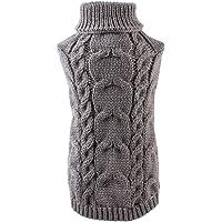 Yolispa - Suéter de cuello alto para perro, tejido suave, transpirable, elástico, para interiores y exteriores, cuerda…