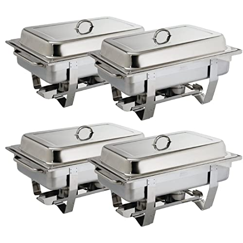 Brand new stainless steel twin pack chafing dishes 8.5