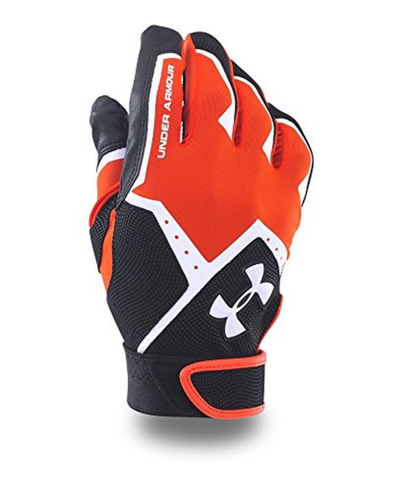Under Armour Boys ' clean-up VIバッティング手袋 B018HLHJE8 Small|Dark Orange/Black Dark Orange/Black Small