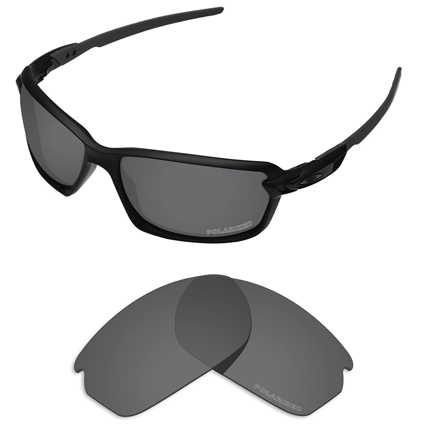 880334059faf3 Amazon.com  Tintart Performance Lenses Compatible with Oakley Carbon Shift  Polarized Etched-Carbon Black  Clothing
