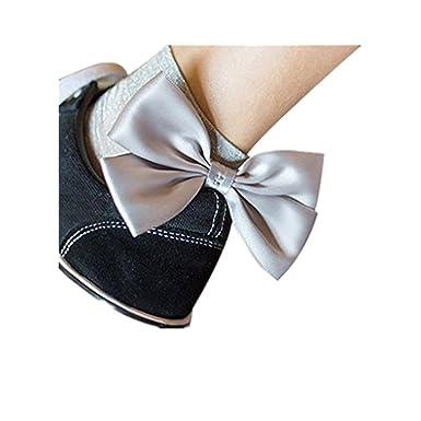 3bec4194ed4 Chaussettes hautes en maille - Chaussettes Bowtie en résille - BZLine  (Argent)  Amazon.fr  Vêtements et accessoires