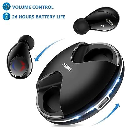 dc2030179f4 Anbes 359 Bluetooth 5.0 True Wireless Earbuds, 24H Playtime Deep Bass HD  Sound, Headphones