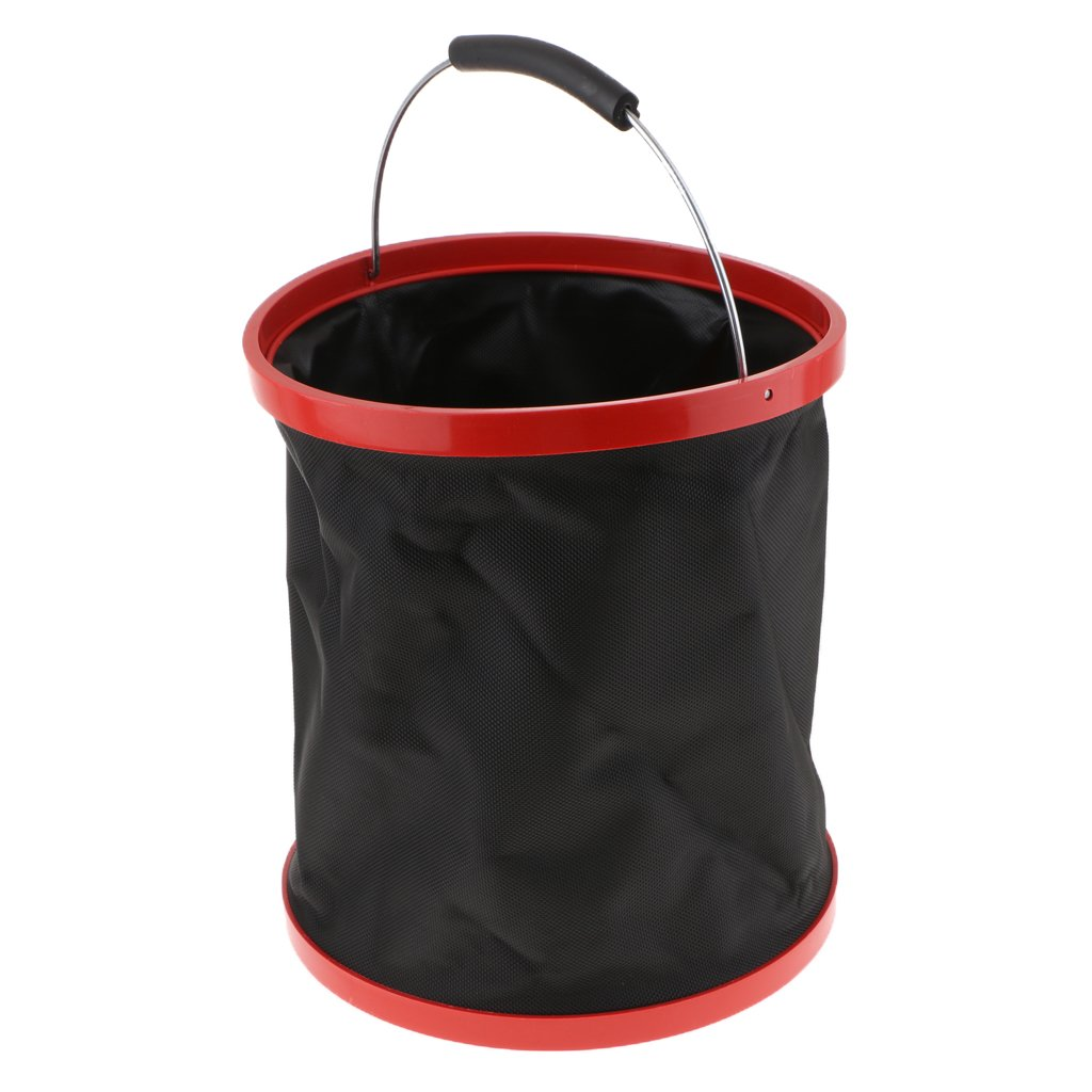 D DOLITY 2000D Oxford Portable 12L Folding Barrel Bucket for Car Washing Fishing