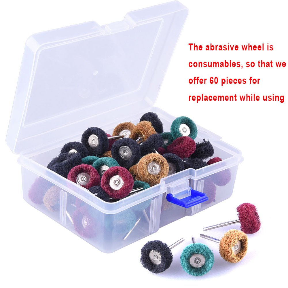 40 Packs 25mm Abrasive Buffing Wheel Polishing Wheels Mix Set 3mm Shank 180//240//320//400Grit with Dremel Rotary Tools Accessories 40Pcs