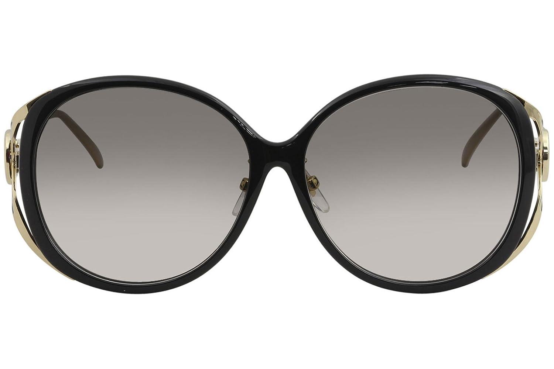 53c21f28db7aa Amazon.com  Gucci GG 0226 SK- 001 BLACK   GREY GOLD Sunglasses  Clothing