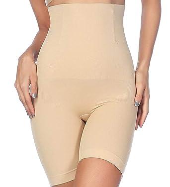 6133675d52f3e Komica Tummy Control Shapewear for Women High-Waist Body Shaper Shorts  Thigh Seamless Panties