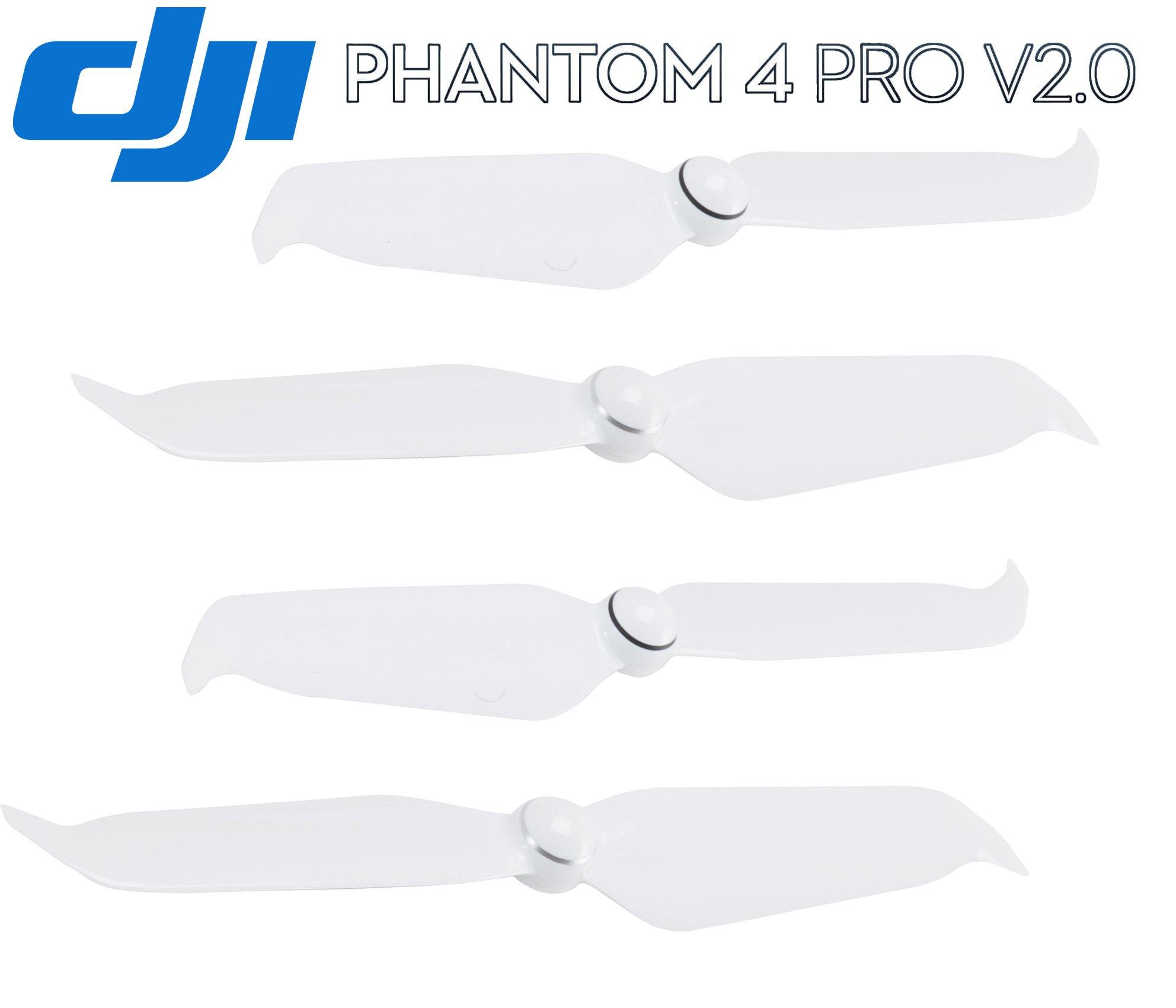 DJI Genuine Phantom 4 Series Low-Noise 9455S Propellers for Phantom 4 Advanced/Pro/Pro+ V2.0 Drone Accessories Part#137 (White, 2 Pairs Phantom 4 Series Low-Noise Propellers)
