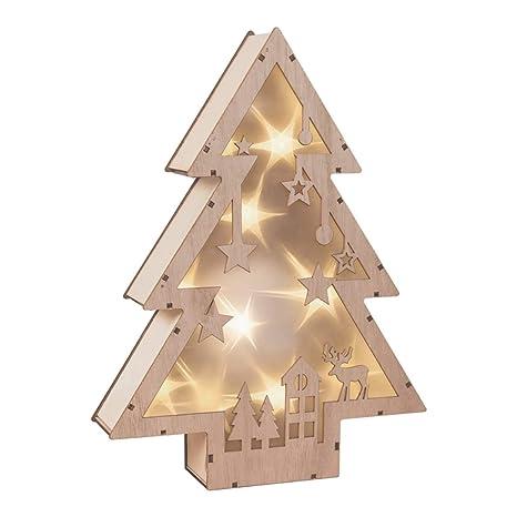 562d2a2c29f The Christmas Workshop - Caja de luz LED de madera para árbol de Navidad