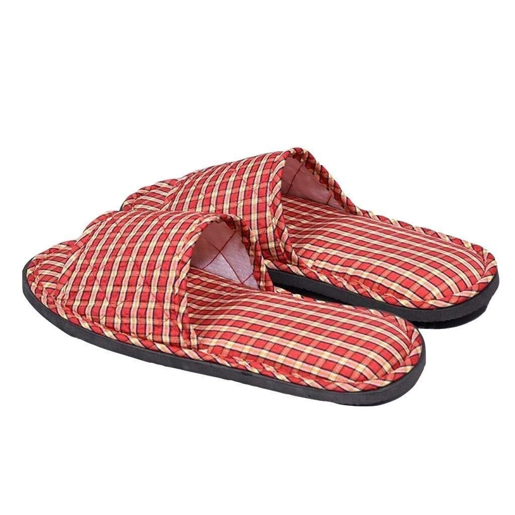 LBWT Hotel Non-Disposable Slippers - 10 Pairs of Fabric Slippers Thicken Non-Slip Indoor Home Quiet Aircraft Beauty Salon Slippers Wooden Floor Ladies Cotton Slippers by LBWT