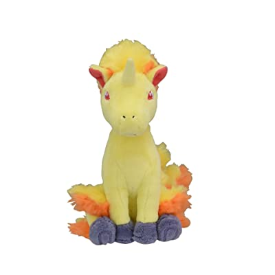 Pokemon Center Original Fit Rapidash Galopa Gallopa Plush Peluche: Toys & Games